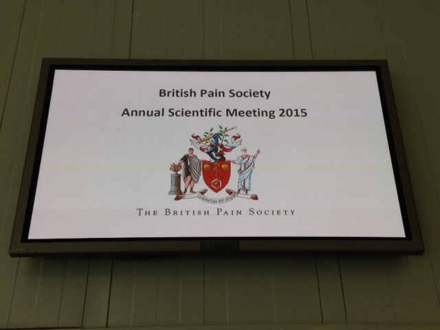 Richard Lowes addresses British Pain Society's conference