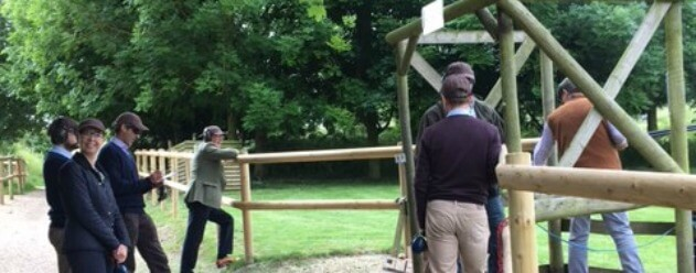 BLB Solicitors entertains clients at a mornings clay pigeon shoot