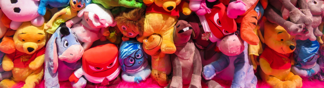 Group of miscellaneous cuddly toys