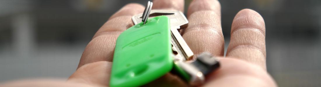 House keys in hand