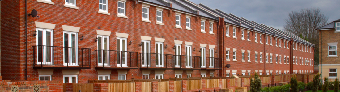 Terrace of new houses