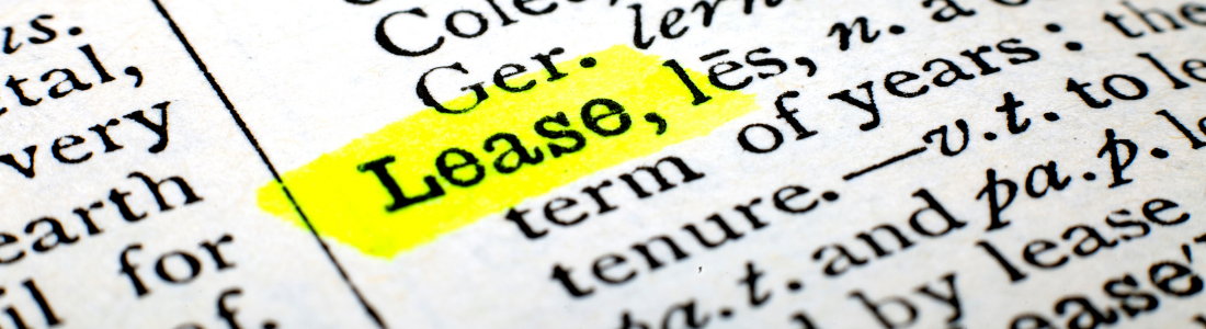 Dictionary definition of a lease