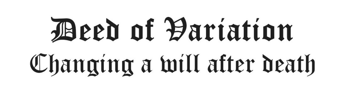 Deed of Variation