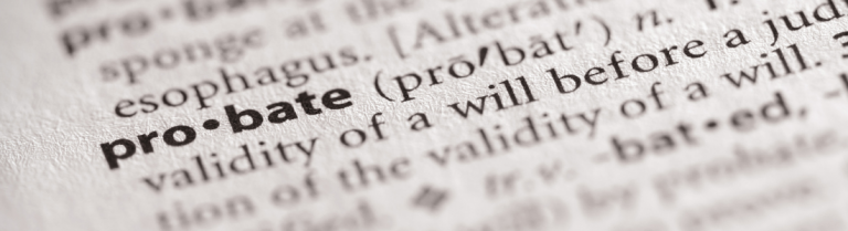 Dictionary definition of probate