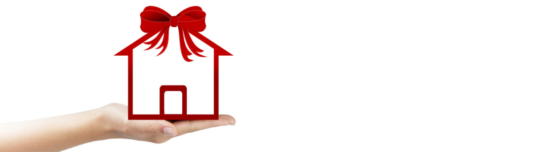 House with gift bow