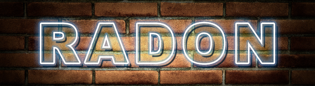 The word Radon on a wall